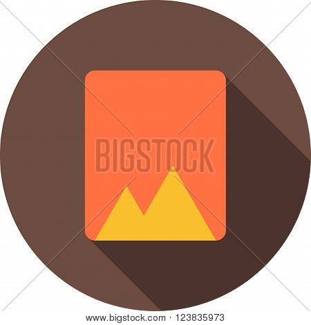 Photo, album, book icon vector image. Can also be used for picture editing. Suitable for use on web apps, mobile apps and print media.