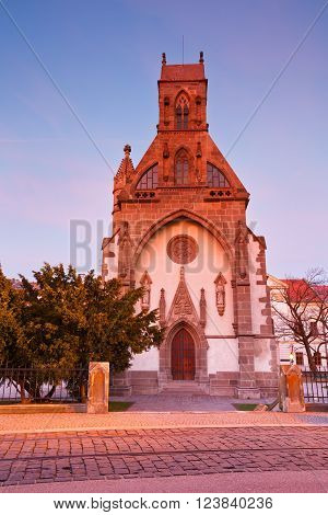 St. Michael chapel in the main square of Kosice city in eastern Slovakia.