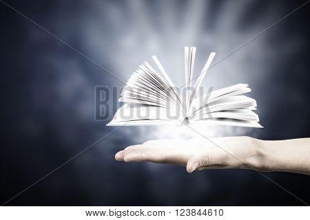 Reading books concept