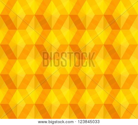 Seamless texture with yellow abstract rhombs for tablecloth