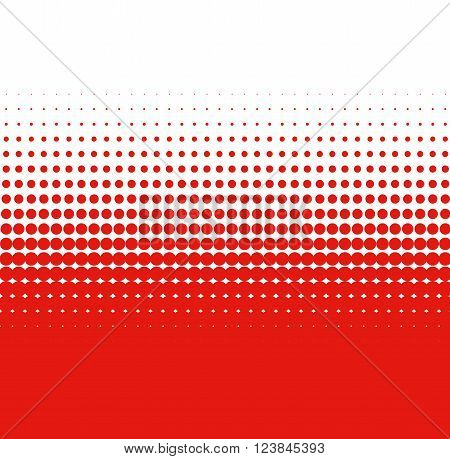 Color transition with small and big red white dots