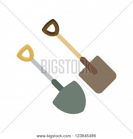 Spade, shovel, digging icon vector image. Can also be used for tools. Suitable for use on web apps, mobile apps and print media.