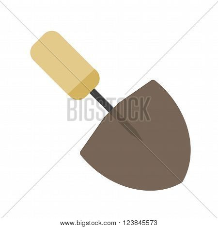 Trowel, work, metal icon vector image. Can also be used for tools. Suitable for use on web apps, mobile apps and print media.