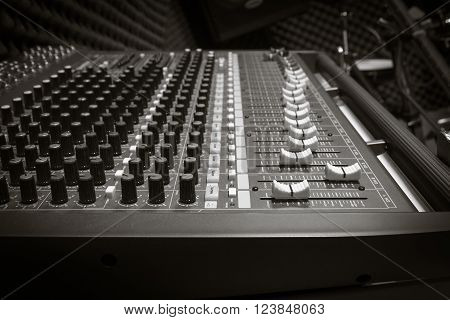 sound mixer music background by black and white tone
