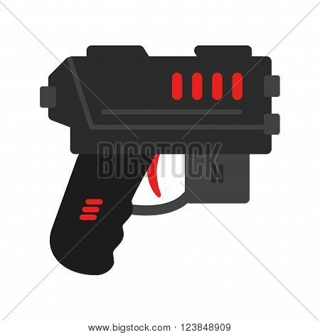 Gun, toy, water icon vector image.Can also be used for games entertainment. Suitable for mobile apps, web apps and print media.