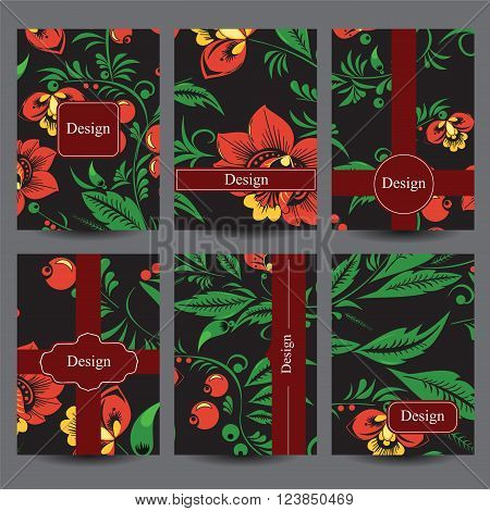 stock vector set of design template for flyer card poster. background