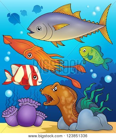 Ocean fauna topic image 4 - eps10 vector illustration.
