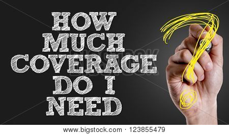 Hand writing the text: How Much Coverage Do I Need?