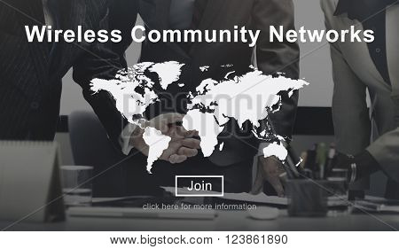 Wireless Community Networks Technology Hot spot Concept
