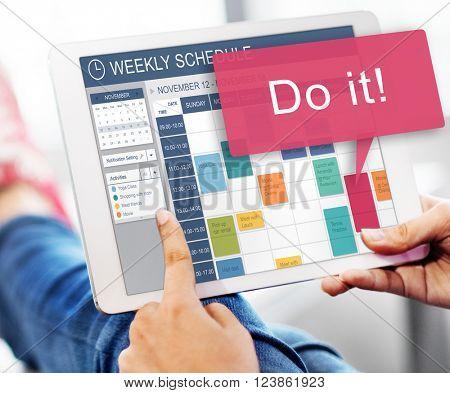 Do It Motivation Development Encouragement Concept
