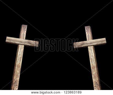 Old Brown Wooden Cross
