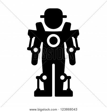 Exoskeleton Icon on White Background. Vector Illustration