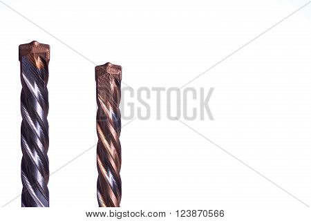 drills for stone and concrete isolated on white background