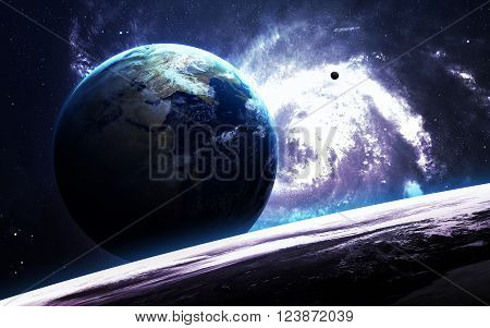 Infinite space background with nebulas and stars. This image elements furnished by NASA