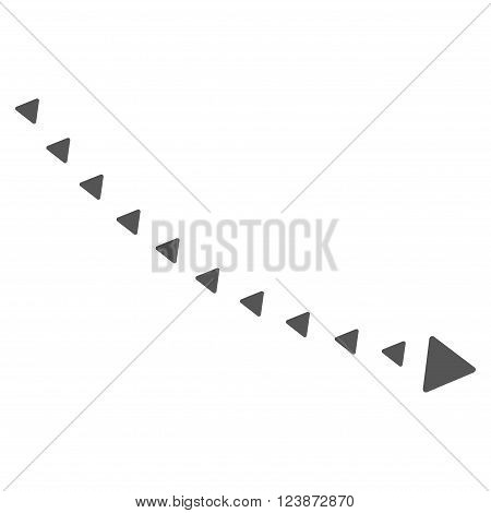 Dotted Decline Trend vector icon. Style is flat icon symbol gray color white background triangle dots.