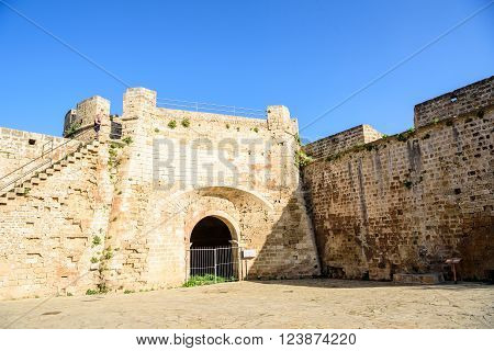 Famagusta city walls leading to Otello Stronghold, Northern Cyprus