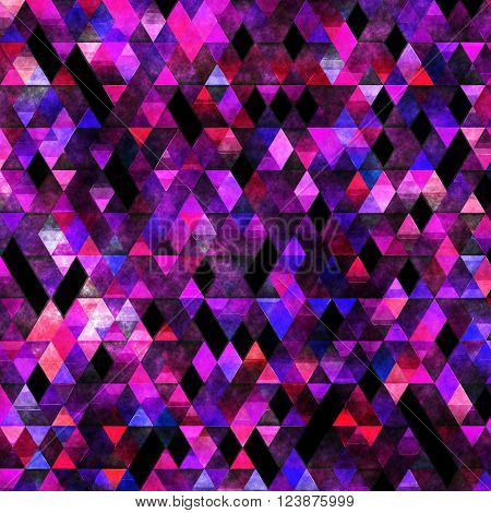 geometry painting, impressionism triangles painting, painted triangle texture