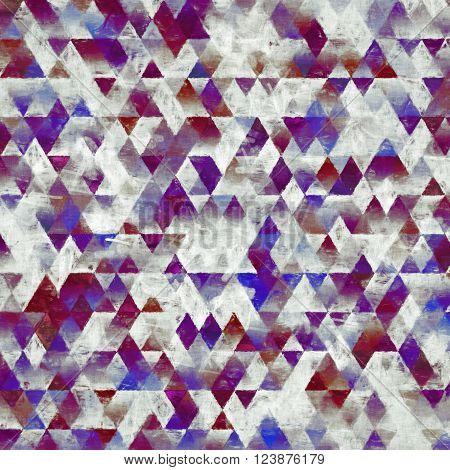 geometry painting, impressionism triangles pattern, abstract cover design