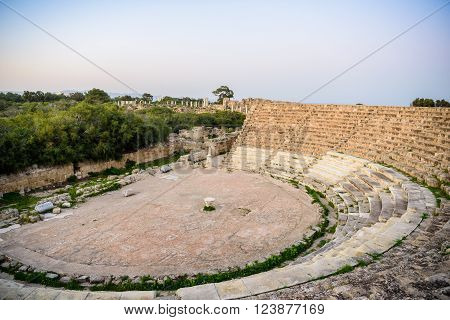 Amphitheater In Ancient City Of Salamis, Northern Cyprus.
