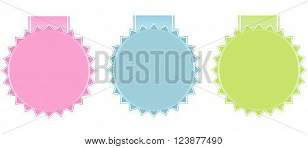 Vintage labels set in cute pastel tones