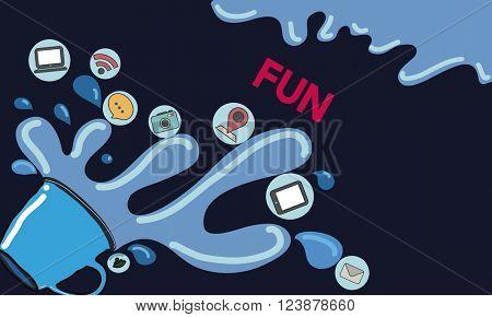Fun Enjoyment Happiness Enjoyment Amusement Concept