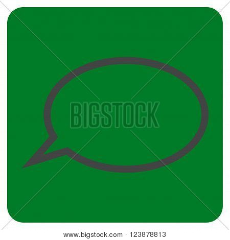 Hint Cloud vector symbol. Image style is bicolor flat hint cloud pictogram symbol drawn on a rounded square with green and gray colors.
