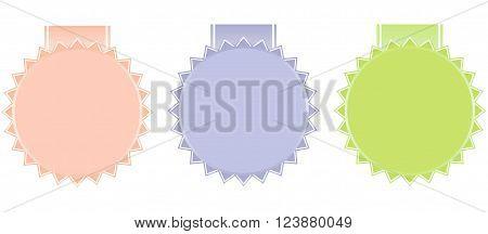 vector set vintage labels in pastel tones