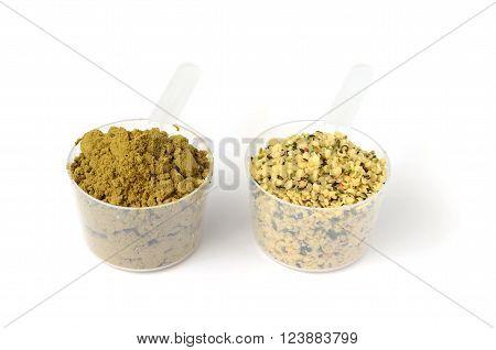 Hemp Protein Powder And Shelled Hemp Seeds