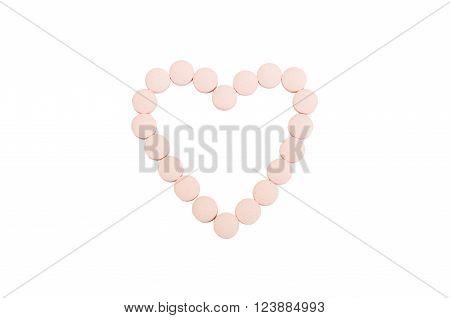 Heart Shape Using Pills