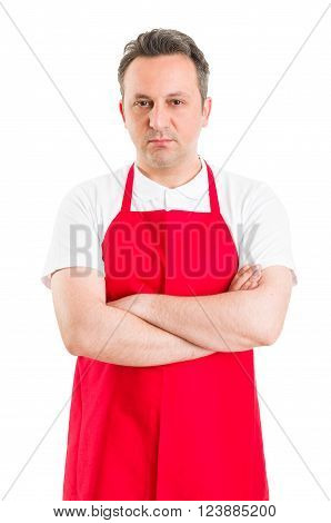Confident Butcher Or Supermarket Employee