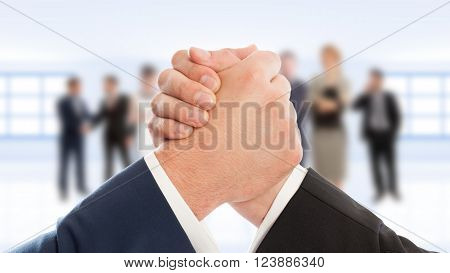 Business People Arms Wrestling