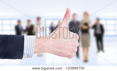 Business Woman Hand Showing Like
