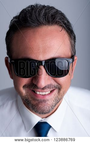 Cool Business Man Wearing Shades Or Sunglasses