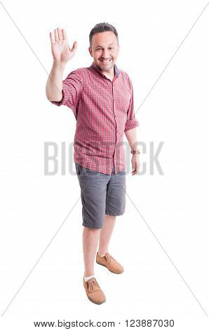 Smiling Man Ready For High Five