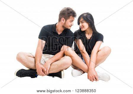 Boyfriend And Girlfriend Inlove On White Background