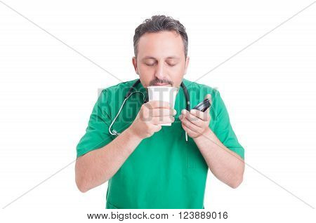 Doctor Having A Break Drinking Fresh Coffee
