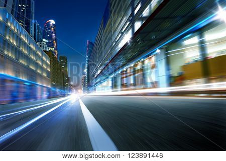 cold mood city street motion blur background