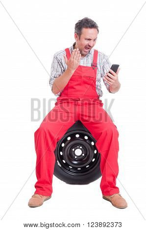 Angry Mechanic Yelling Or Shouting On Video Call