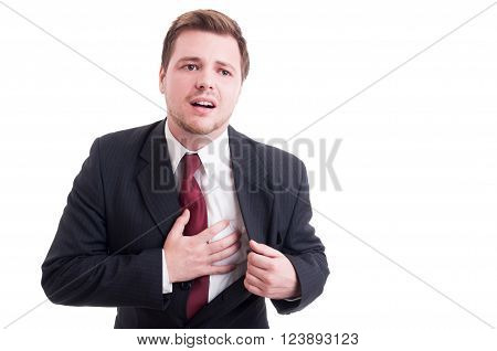 Stressed Accountant Having Heart Atack