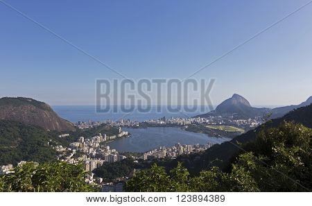 Overview of Ipanema, Lagoa Rodrigo de Freitas, and Leblon - Rio de Janeiro, Brazil