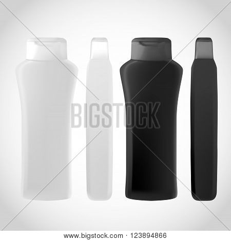 Shampoo Bottle Isolated On White Background For Design.