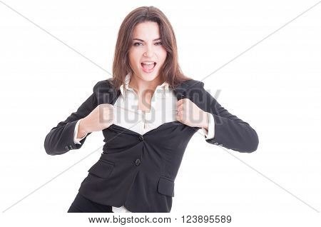 Young Successful Business Woman Acting Sexy
