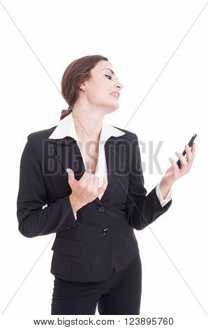 Business Woman Acting Sexy On A Video Call