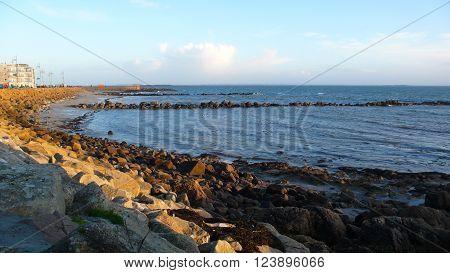 Sea coast in the morning, Galway, Ireland