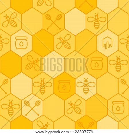 Vector Seamless Honey Pattern