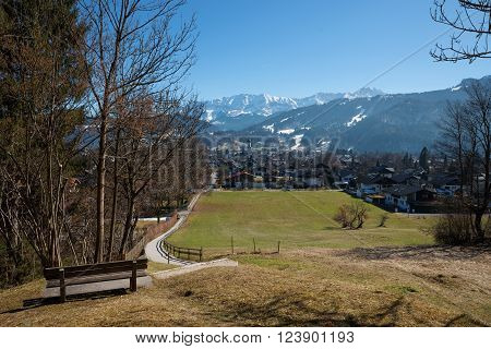 Lookout Point With Bench, Garmisch-partenkirchen