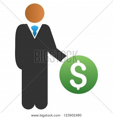 Investor vector toolbar icon for software design. Style is a gradient icon symbol on a white background.
