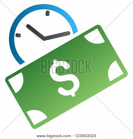 Recurring Payment vector toolbar icon for software design. Style is a gradient icon symbol on a white background.