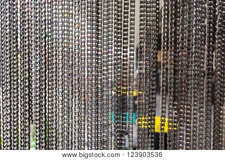 Bicycle Chain For Background Texture