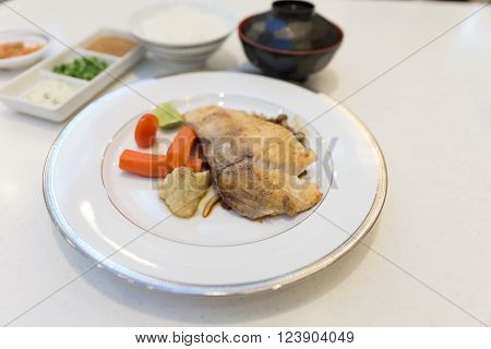 Grilled Snapper Fish With Mushroom